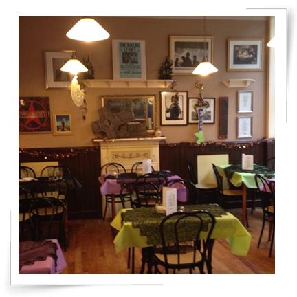 Inside our cosy little café